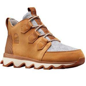 Sorel   Kinetic Caribou High Top Leather Sneaker